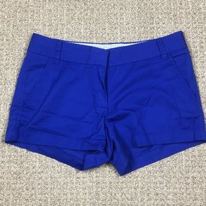 Women's j crew blue chino broken in shorts size 4